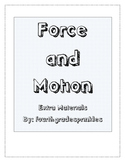 Forces and Motion Games and Worksheets Packet