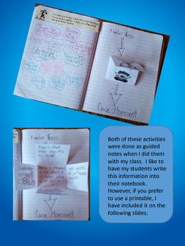 Forces and Motion Interactive Notebook Activities