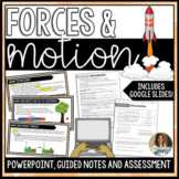 Forces and Motion Editable PowerPoint Guided Notes and Assessment