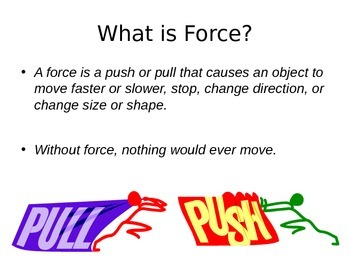 Forces and Motion Interactive Powerpoint