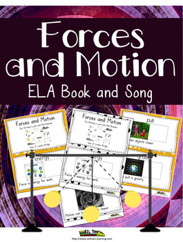 Forces and Motion Interactive Vocabulary Book and Song wit