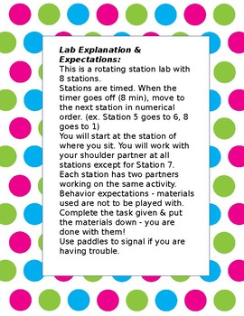 Forces and Motion Lab Stations