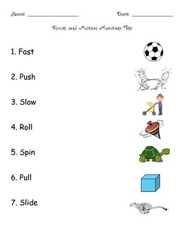 Forces and Motion Matching Test