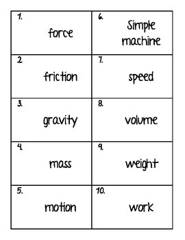 Forces and Motion MatchingMania