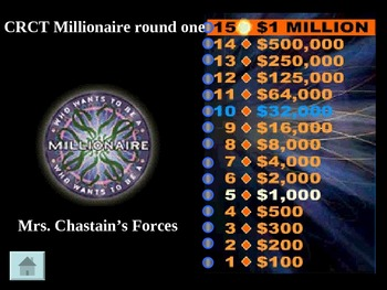 Forces and Motion Millionaire