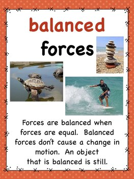 Forces and Motion  Posters for  elementary grades