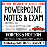 Forces and Motion PowerPoint, Notes & Exam - Google Slides