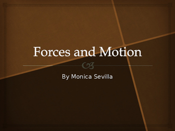 Forces and Motion Powerpoint