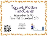 Forces and Motion Task Cards 5th Grade Common Core 5.P.1 {