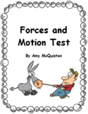 Forces and Motion Test and Study Guide