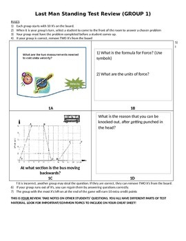 Forces and Motion Test Review