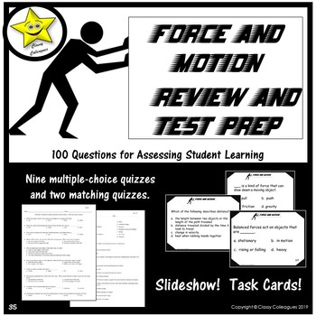 Force and Motion Written Assessments