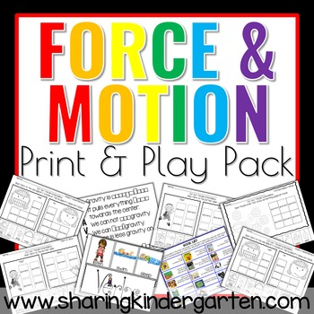 Forces and motion worksheets for kindergarten