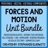 Forces and Motion Unit Bundle - Printable, Digital & Edita