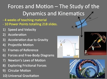 Forces and Motion Unit - Dynamics and Kinematics -Complete