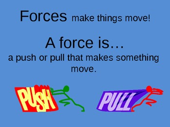 Forces and Motion Unit: Forces, Pushes, and Pulls PowerPoint