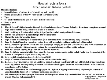 Forces and Motion: Using Air as a Force Lesson