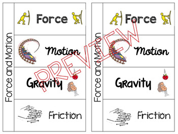Forces and Motion Vocabulary Foldable