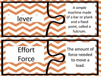 Forces and Motion Vocabulary Puzzles - 4th Grade GPS