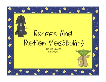 Forces and Motion Vocabulary Set