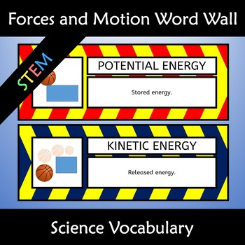 Forces and Motion Wall Poster and Science Anchor Charts