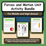Forces and Motion whole unit bundle