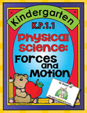 Forces and Motion for K.P.1.1 ~ Physical Science Centers, Word Wall Words