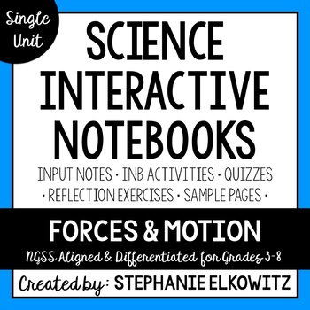 Forces and Motion Interactive Notebook Unit
