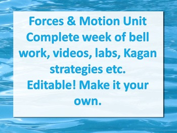 Forces and Motion week 4
