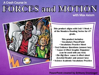 Forces and Motion with Max Axiom - 4th Grade McGraw-Hill Wonders