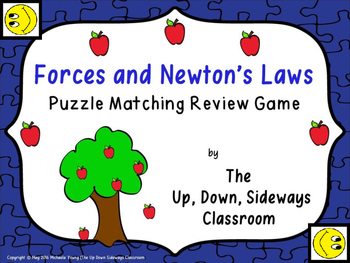 Forces and Newton's Laws Puzzle Matching Review Game