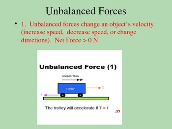 Net Force:  Balanced and Unbalanced Forces PowerPoint