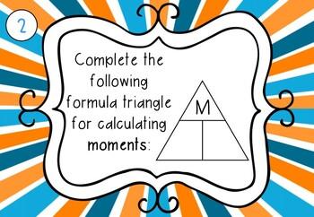 Density, Pressure & Moments Task Cards (Middle School)