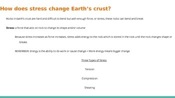 Forces in Earth's Crust Powerpoint