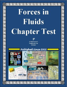 Forces in Fluids Test  (Hydraulics, Density, Pressure, Force) - Physical Science