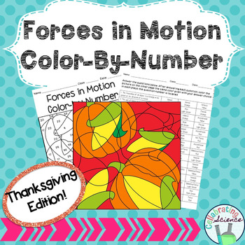 Forces in Motion Color By Number **Thanksgiving Edition**