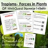 Forces in Plants- Tropisms QR WebQuest Foldable