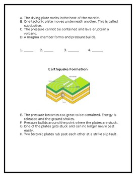 Forces of Earth Sequence of Events