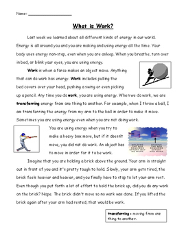 Forces of Energy: Work