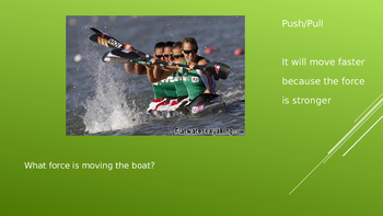 Forces of Motion - What moves the boat? Slideshow