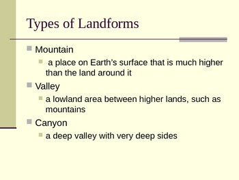 Forces that Shape the Land PowerPoint