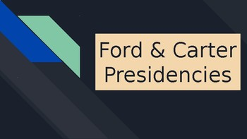 Ford/Carter Presidency PowerPoint