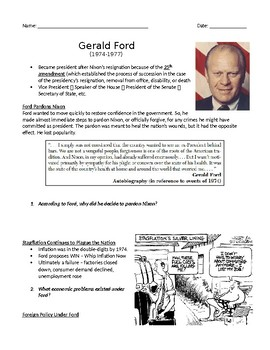 Ford & Carter Quick Worksheet