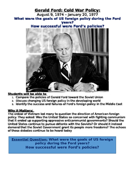Ford and the Cold War: refugee crisis connections w/ Palestinian refugees today