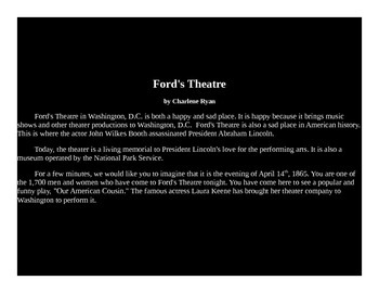 Ford's Theatre Powerpoint Presentation