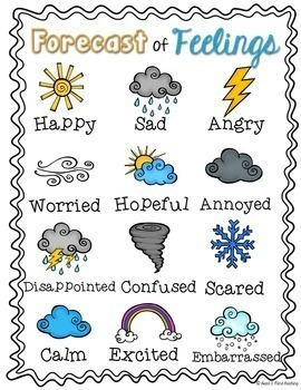 Forecast of Feelings workbook by Heart and Mind Teaching | TpT