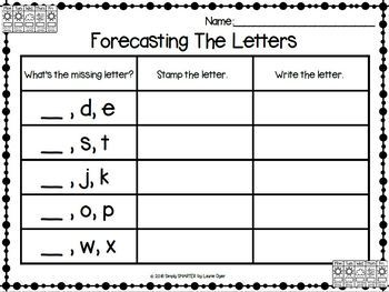 Forecasting The Letters:  NO PREP Alphabet Rubber Stamping Activities