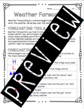 Forecasting Weather Worksheet