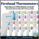 Non-Contact (Infrared) Thermometers Clip Art for Personal