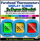 Non-Contact Thermometers  (Screen) Clip Art for Personal a